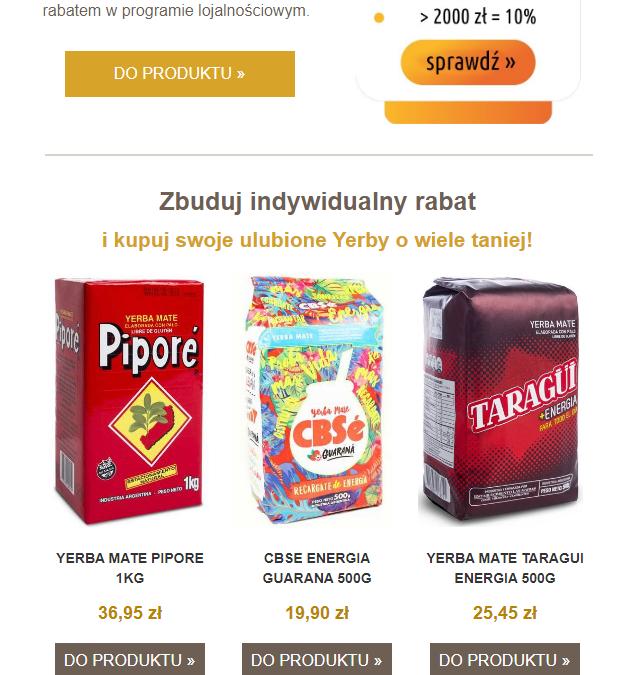 YerbaMateStore.pl – Newsletter 1
